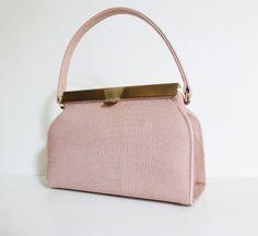 Vintage 1950s Pink Crocodile Handbag 50s By Modhuman 64 00 Handbags Best