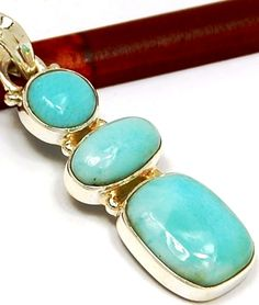 #'Genuine Larimar Pendant' is going up for auction at 12pm Sun, Jul 22 with a starting bid of $10.