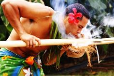 Tama Samoa in The Polynesian Cultural Center, Laie, Hawaii.