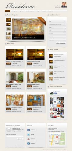 Residence is a professional WordPress Real Estate theme with MLS-IDX Search integration*, a powerful search module and a dynamic