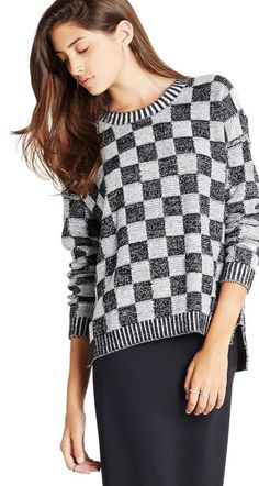 For those cold days in the office, a BCBGeneration™ Check Sweater