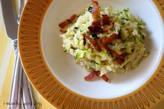 Cheesy Zucchini Rice with Bacon - I Wash You Dry