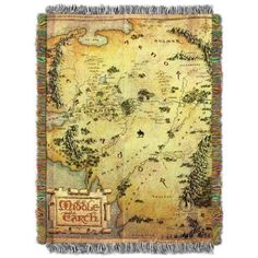 Use this beautiful The Hobbit: An Unexpected Journey Map of Middle-earth woven tapestry throw blanket as a room accent, bed covering, throw blanket or wall-hanging. Tolkien, Legolas, The Hobbit Map, Hobbit Art, Hobbit Hole, Hobbit An Unexpected Journey, Middle Earth Map, Journey Mapping, Harry Potter