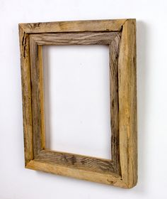 Very Rustic 8 X 10 Banded Framed Of Salvaged Wormy Chestnut.