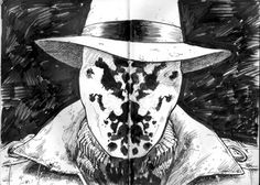 Rorschach is a violent anti-hero detective in the 1986 DC Comics series Watchmen. He wears a constantly shifting inkblot mask which he considers to be his true face. http://www.comicvine.com/rorschach/29-40444/