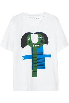 Marni Monster-print cotton T-shirt | THE OUTNET