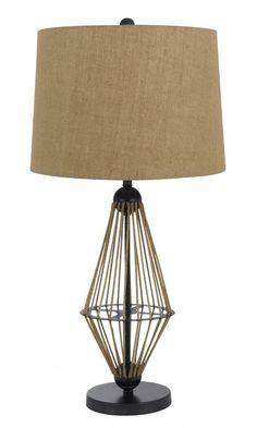 CAL Lighting BO-3563TB MONTICELLO 1 Light Table Lamp