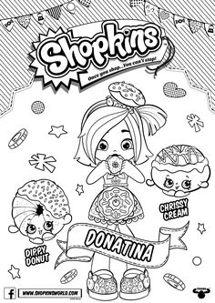 Shopkins Doll Chef Club Colour In Donatina