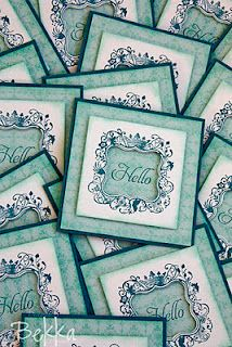 elementary elegance stampin up - would be good idea for post it note sets.