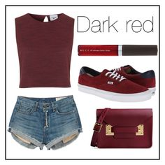 """""""#90 dark red"""" by xjet1998x ❤ liked on Polyvore featuring Topshop, rag & bone, Vans, Becca and Sophie Hulme"""