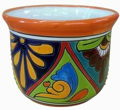 Shop our beautiful garden pieces imported from our Mexican factory. Talavera pottery adds color to your home and garden. Flower Pot Crafts, Flower Pots, Flowers, Talavera Pottery, Garden Planters, Vases Decor, White Ceramics, Craft Projects, Mexican