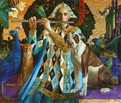 Painting by Olga Suvorova - Art Kaleidoscope Russian Painting, Russian Art, Figure Painting, Stone Painting, Gustav Klimt, Art And Illustration, Art Du Monde, Magic Realism, Unusual Art