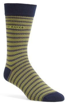 Ted Baker London 'Hayhay' Textured Stripe Socks