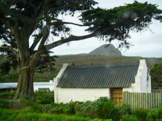 Old Cape Dutch-style cabin in Cape Point National Park near the Cape of Good Hope South Africa.