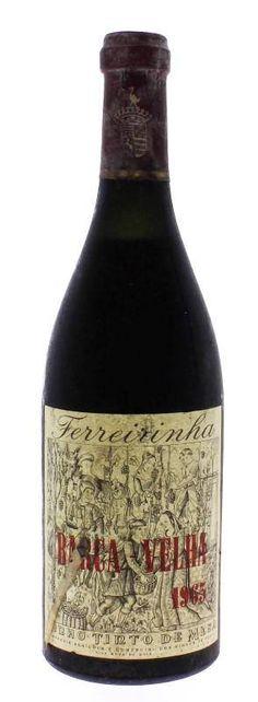 Garrafa de Vinho Tinto, Ferreirinha, Barca-Velha, Colheita 1965, Companhia Agrícola e Comercial dos Vinhos do Porto