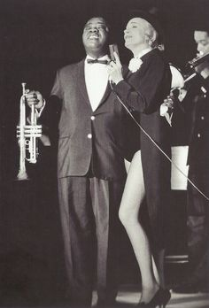 Louis Amstrong & Marlene Dietrich