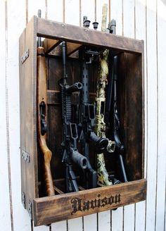 Gun rack more gun rack ideas gun cabinets diy gun rack customizable