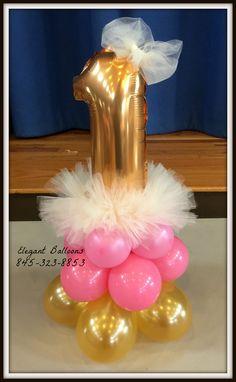 number one tutu centerpiece #tutucenterpiece #elegantballoons