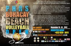 The Largest Beach Volleyball Event in the Philippines, Beach Volleyball Open, will be held on November Volleyball Tournaments, Beach Volleyball, Philippines Beaches, Boracay Island, Open Season, Hotel Reservations, The Province, November, Seasons