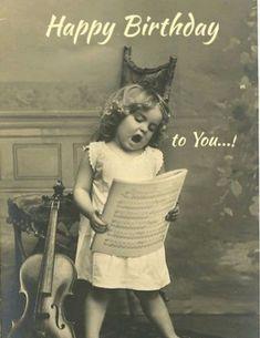 Happy birthday to you! - Happy Birthday Funny - Funny Birthday meme - - Happy birthday to you! The post Happy birthday to you! appeared first on Gag Dad. Images Vintage, Vintage Photographs, Funny Vintage Pictures, Old Pictures, Old Photos, Children Pictures, Music Pictures, Birthday Images, Birthday Ideas