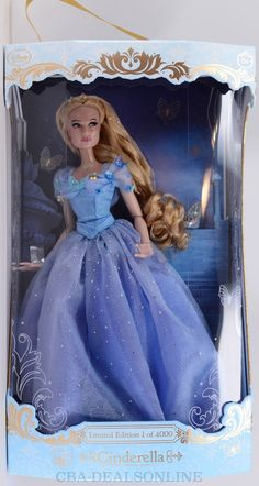 """New Disney Store 2015 17"""" Cinderella Doll 2015 Live Action Limited Edition 4000  #Disney"""