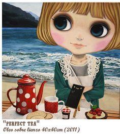 """Nerea Pozo: """"Perfect Tea"""" (40 x 40 cm) 2011"""