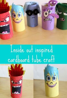 Disney inspired inside out characters craft