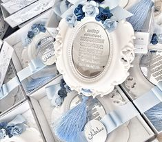 Baby Shower Deco, Baby Boy Shower, Ramadan Gifts, Islamic Gifts, Star Baby Showers, Clay Ornaments, Cold Porcelain, Baby Room Decor, Wedding Favours