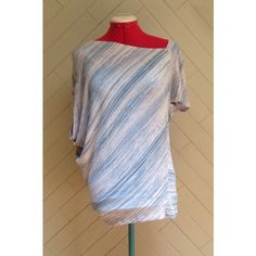Anthropologie Asymmetrical Top Asymmetrical top by the Anthropologie brand Deletta. Unique neckline. Oversized right sleeve. 95% rayon 5% spandex. Great condition. No rips or stains. ❌No trades❌ Anthropologie Tops