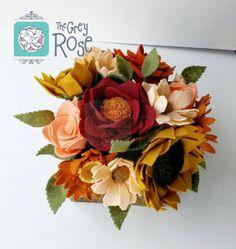 Felt FlowersFelt Flower Box Felt Flower by thegreyrose on Etsy