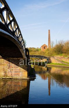 Bumble Hole, Windmill End Pumping Station, Cobbs Engine House & Toll End Works Bridges. Netherton Dudley West Midlands. Stock Photo