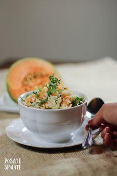 Insalata di riso con melone e rucola_Posate Spaiate