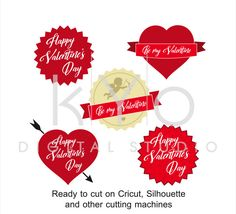 46 Best Valentines Day Svg Files Images Monogram Frame Silhouette