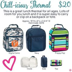 Chill-Vicious Thermal by Thirty-One. Fall/Winter 2016. Click to order. Join my…