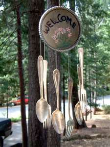 How To Make Wind Chimes using silverware.  I have to try this. :)