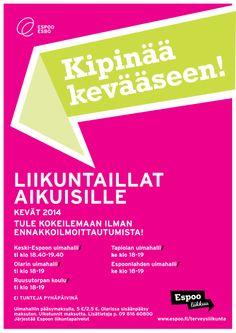 Espoo liikkuu -ilmeellä tehty juliste / Mainostoimisto RED / Talvi 2014