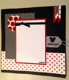 Disney Handmade Scrapbook Page Ideas Scrapbook, Disney Scrapbook Pages, Scrapbook Sketches, Scrapbook Page Layouts, Baby Scrapbook, Scrapbook Paper Crafts, Scrapbook Cards, Simple Scrapbooking Layouts, Handmade Scrapbook