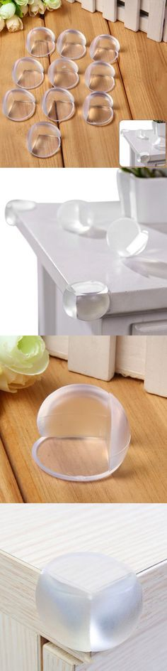 10pcs Baby Safety Desk Corner Ball Table Edge Corne​r Protector Cushion - TRANSPARENT