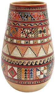 Pre-Columbian pottery is a highly developed form of creative expression in South and Central America that began in the fourteenth century. The potters here are well known for their excellent clay work and each artisan works in small family groups to learn their art as a tradition passed down from generation to generation. The function of these small pots is temporary household storage, but throughout the years these practical pots and their unique designs have also become fine pieces of…