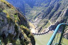 "Blick vom ""Mirador del Fraile"" auf den Staudamm"