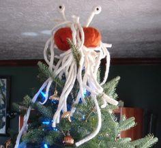 Flying Spaghetti Monster Christmas Tree Topper.