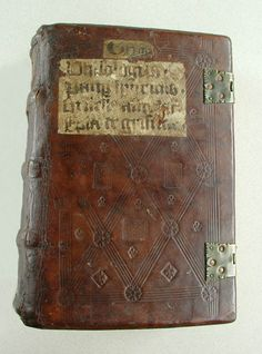 New Fashion Old Leather Binding Brown And Green Color For Manuscript Or Printing Book Manuscripts Antiquarian & Collectible