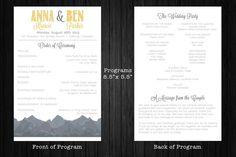Wedding invite set printable
