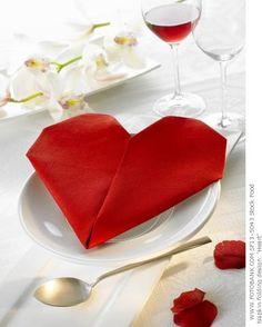 valentine napkin