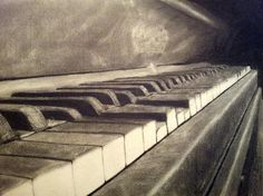 Piano. Used about 5-6 hours, 4-8b pencils, kneaded eraser and toilet paper :)…