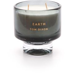 Tom Dixon Earth Scented Candle ($115) ❤ liked on Polyvore featuring home, home decor, candles & candleholders, candles, grey, tom dixon candles, gray home decor, grey candles, cedar scented candle and grey home decor