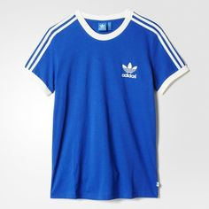 Designer Clothes, Shoes & Bags for Women Camisa Adidas, Adidas Shirt, Adidas Retro, Blue Adidas, Sport Outfits, Casual Outfits, Adidas Outfit, Mode Vintage, Comfortable Outfits