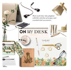"""""""What's on My Desk?"""" by eyesondesign ❤ liked on Polyvore featuring interior, interiors, interior design, home, home decor, interior decorating, Rifle Paper Co, onmydesk, eyesondesigninteriors and eyesondesignlifestyle"""