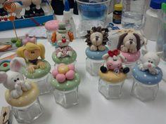Wonderful #polymer #clay jar tops