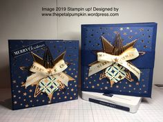 box of Gleaming Christmas cards – Elaine Smith Designs Create Christmas Cards, Christmas Cards 2018, Christmas Card Crafts, Christmas Mom, Stampin Up Christmas, Christmas Makes, Christmas 2019, Holiday Cards, Christmas Ornaments